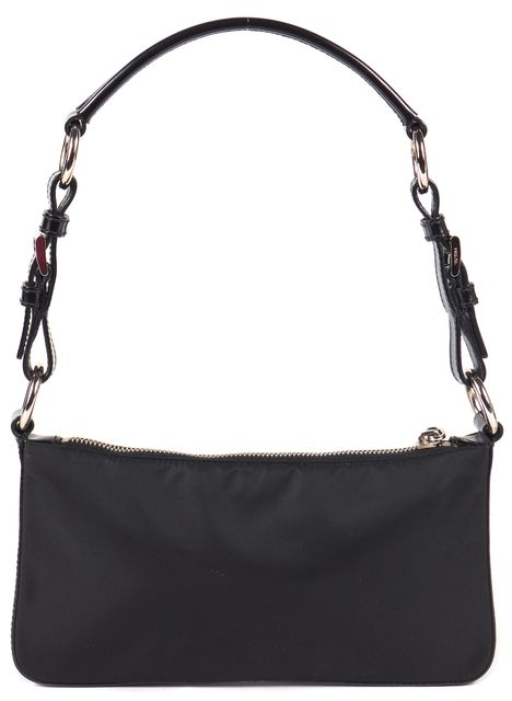 PRADA Black Nylon Pochette Shoulder Bag