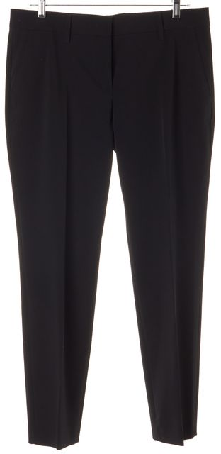 PRADA Black Creased Front Trousers Dress Pants