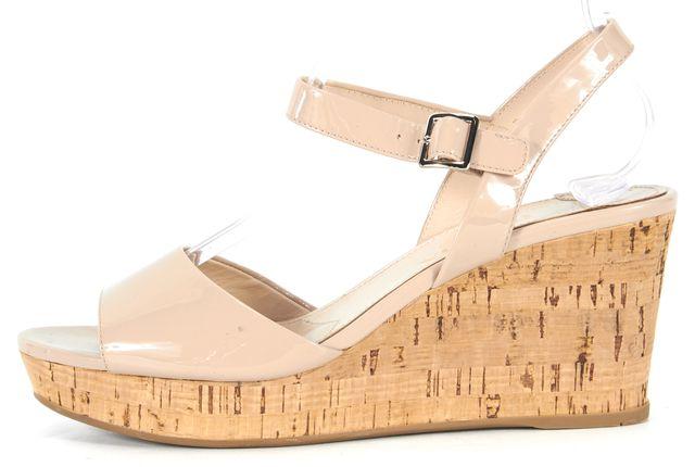 PRADA Dusty Pink Patent Leather Cork Platform Sandals