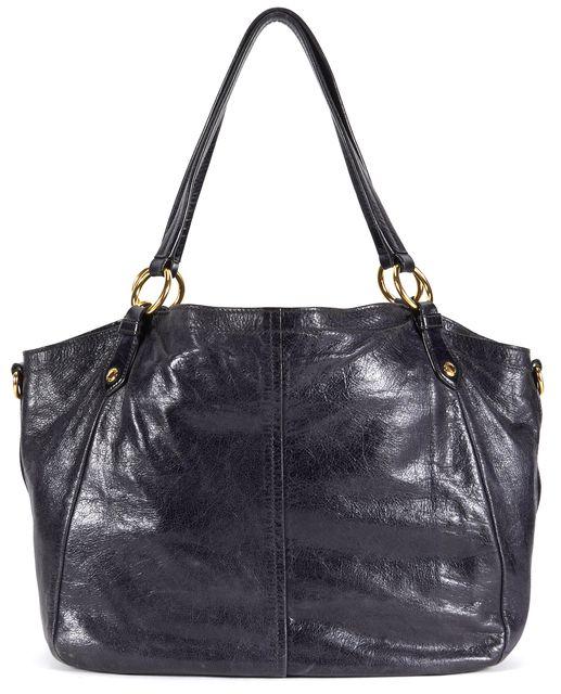 PRADA Black Gold Tone Hardware Leather Shoulder Bag