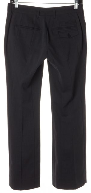 PRADA Dark Charcoal Gray Wool Trouser Dress Pants