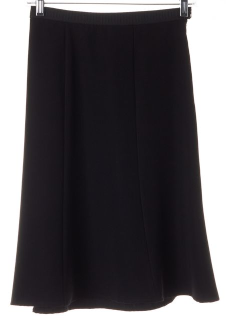 PRADA Black Jersey Stretch Waist A-Line Skirt