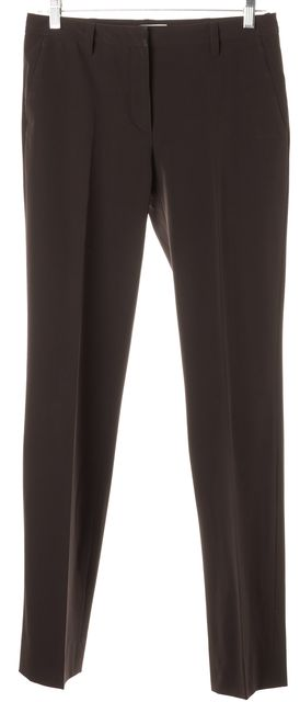 PRADA Bark Brown Pleated Trouser Dress Pants