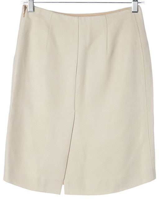 PRADA Light Beige Above Knee Pencil Skirt