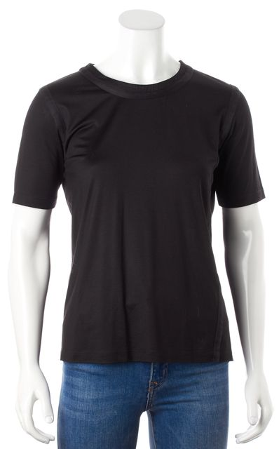 PRADA Black Silk Jersey Basic T-Shirt