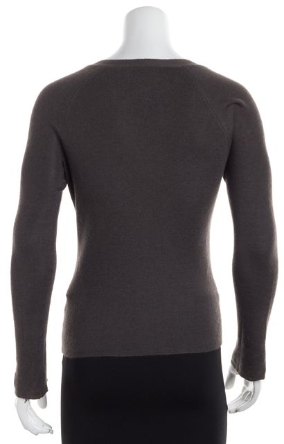 PRADA Olive Green Long Sleeve Cardigan Sweater