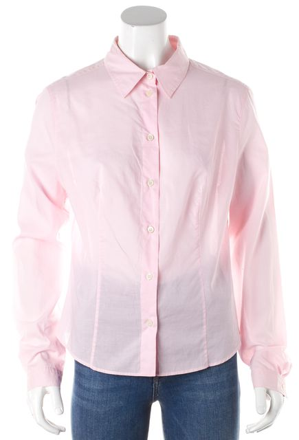 PRADA Pink Collared Detailed Cuff Sleeved Button Down Shirt Blouse