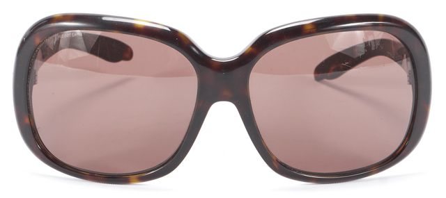 PRADA Black Beige Acetate Brown Branded Square Lensed Sunglasses