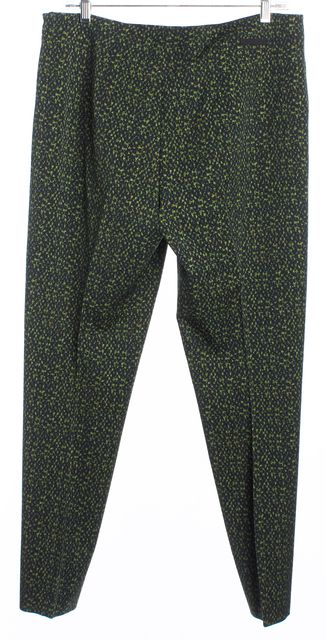 PRADA Green Abstract Slim Fit Casual Pants