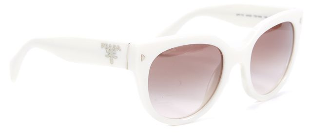 PRADA White Brown Lens Cat Eye Sunglasses