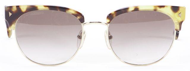 PRADA Brown Tortoise Shell Round Sunglasses w/ Box, Case & Cleaning Cloth