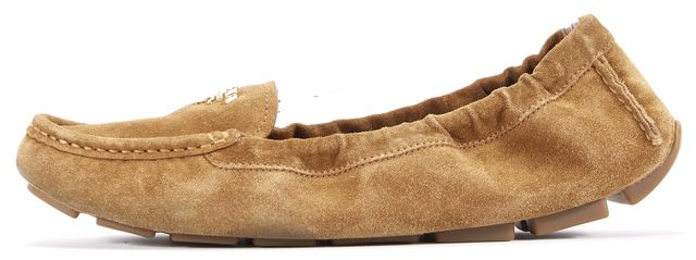 PRADA Brown Suede Scrunch Loafers Size US 9 IT 39.5