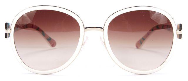 PRADA Ivory Gold Brand Embossed Brown Gradient Square lensed Sunglasses