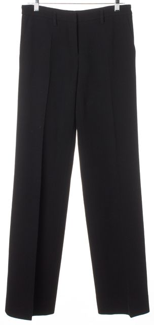PRADA Black Flat Front Trousers Pants