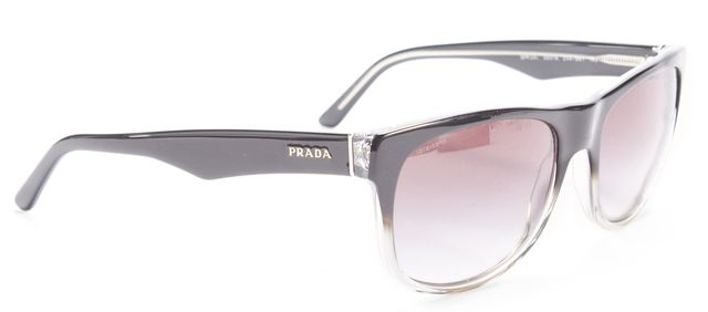 PRADA Black Square Round Gradient Sunglasses