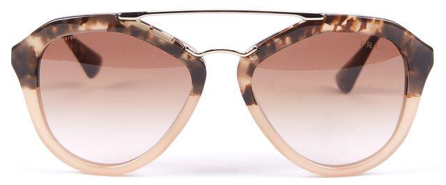 PRADA Brown Acetate Aviator Sunglasses