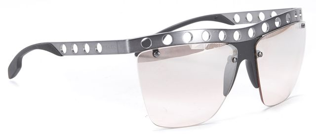 PRADA Gray Black Rimless Sunglasses