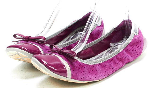 PRADA SPORT Purple Suede Patent Cap Toe Ballet Flats