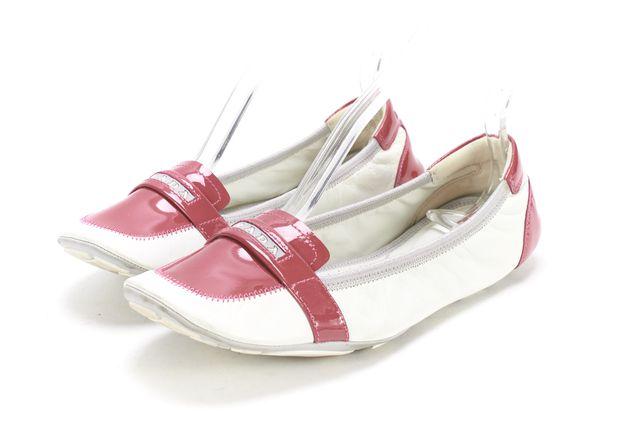 PRADA SPORT White Rose Pink Leather Square Toe Ballet Flat