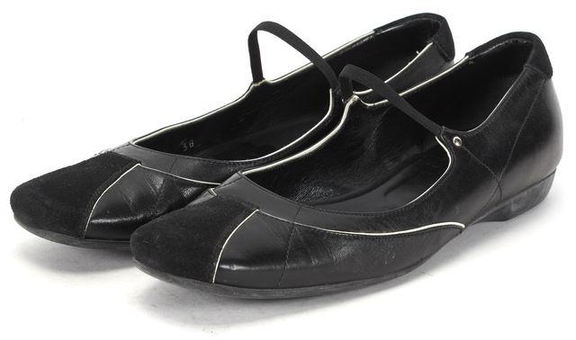 PRADA SPORT Black Leather Sneaker Flats