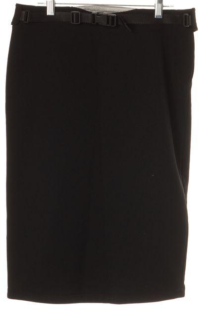 PRADA SPORT Black Pencil Skirt US 4 IT 40