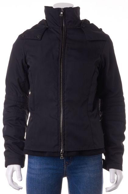 PRADA SPORT Black Zip Up Hooded Jacket Coat