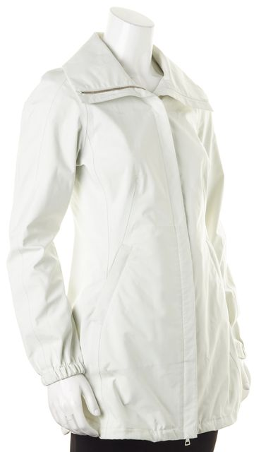 PRADA SPORT White Zip-Up Windbreaker Jacket