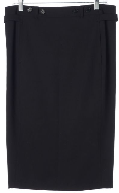 PRADA SPORT Black Wool Knee-Length Pencil Skirt