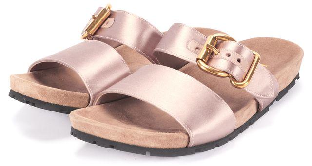 PRADA SPORT Rose Dust Buckle Double-Band Slide Sandals