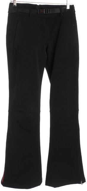 PRADA SPORT Black Button Front Adjustable Waist Anke Zip Cargo Pants