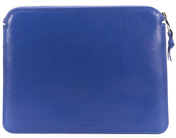 PROENZA SCHOULER Blue Leather PS1 iPad Tablet Case