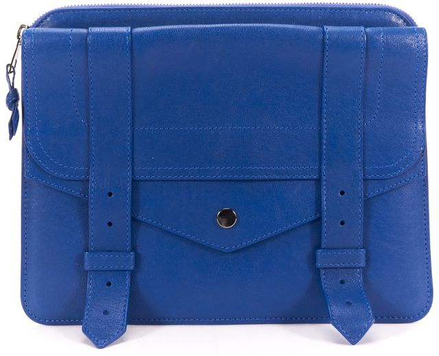 PROENZA SCHOULER Blue Leather PS1 iPad Tablet Case