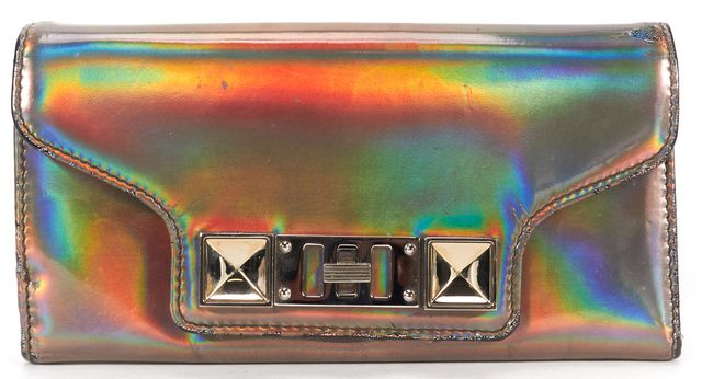 PROENZA SCHOULER Authentic Silver Holographic PS11 Continental Wallet