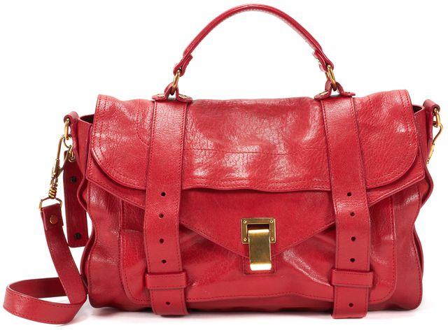 PROENZA SCHOULER Red Leather PS1 Medium Crossbody Satchel Bag