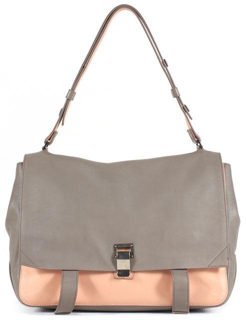 PROENZA SCHOULER Gray Beige Leather PS1 Shoulder Bag