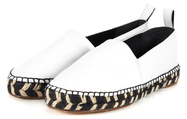 PROENZA SCHOULER White Leather Espadrille Flats