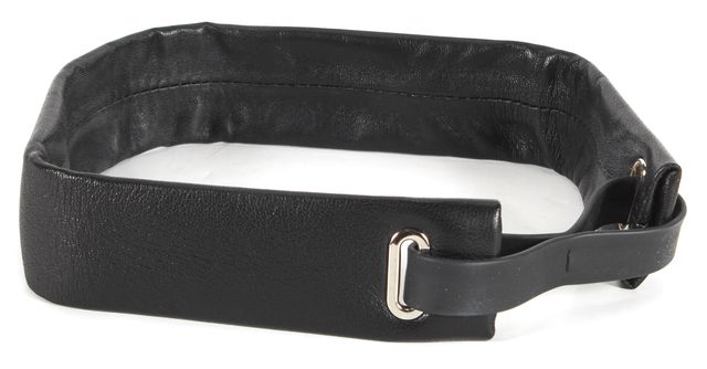 PROENZA SCHOULER Black Nappa Leather Headband