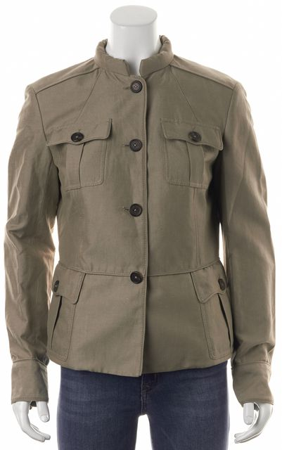 PROENZA SCHOULER Beige Basic Button Front Military Jacket