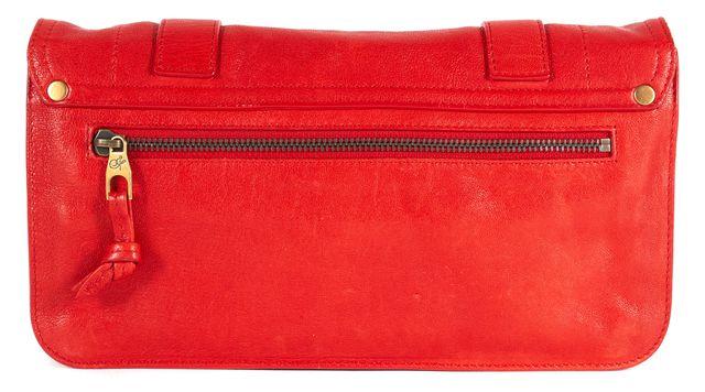 PROENZA SCHOULER Lipstick Red Leather PS1 Pochette Clutch