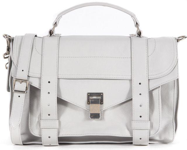 PROENZA SCHOULER Light Gray Leather PS1 Satchel Bag