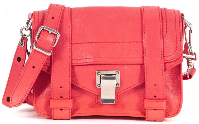 PROENZA SCHOULER Red Leather Adjustable Strap Mini PS1 Crossbody