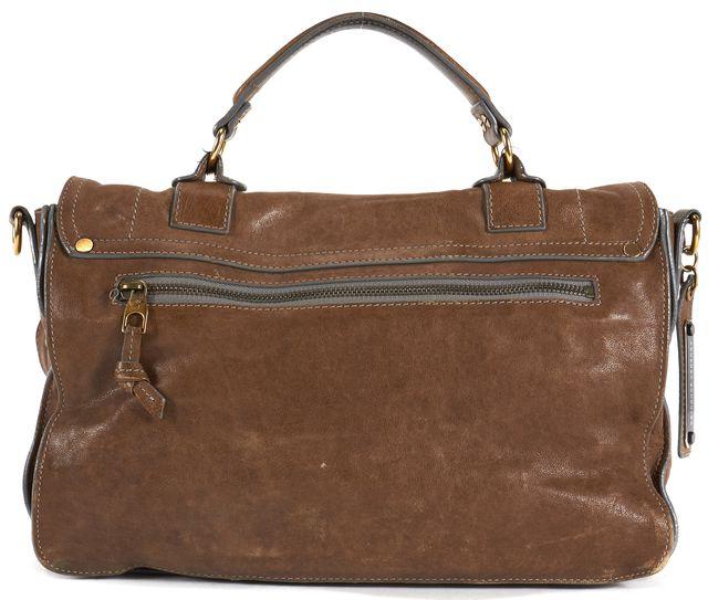 PROENZA SCHOULER Brown Leather Gold Hardware Medium PS1 Satchel
