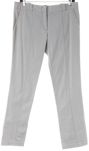 PROENZA SCHOULER Gray Stretch Cotton Trouser Dress Pants