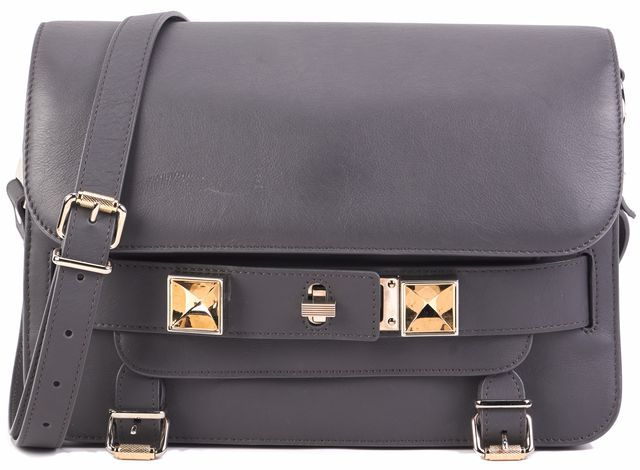 PROENZA SCHOULER Gray Leather Shoulder Bag Handbag