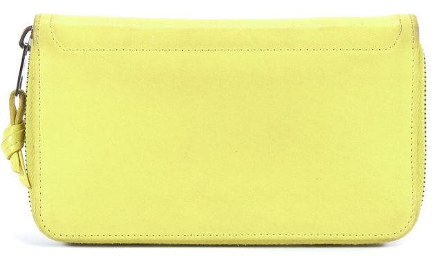 PROENZA SCHOULER Sunshine Yellow PS1 Continental Leather Wallet
