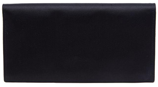 ANYA HINDMARCH PROENZA SCHOULER Black Satin Cosmetic Clutch