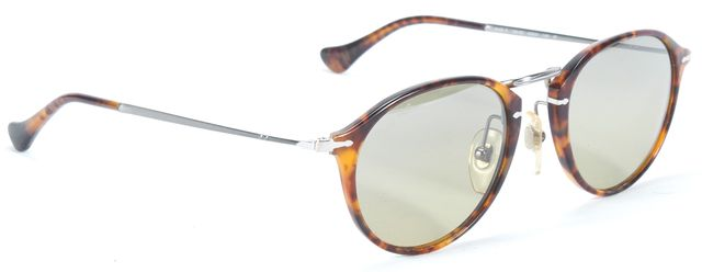 PERSOL Brown Tortoise Round Acetate Frame Sunglasses