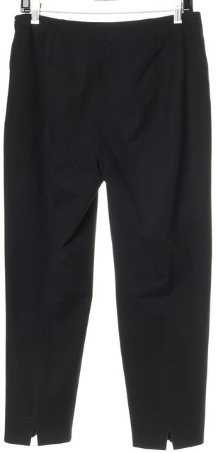 PIAZZA SEMPIONE Black Stretch Cotton High Rise Audrey Trousers Pants