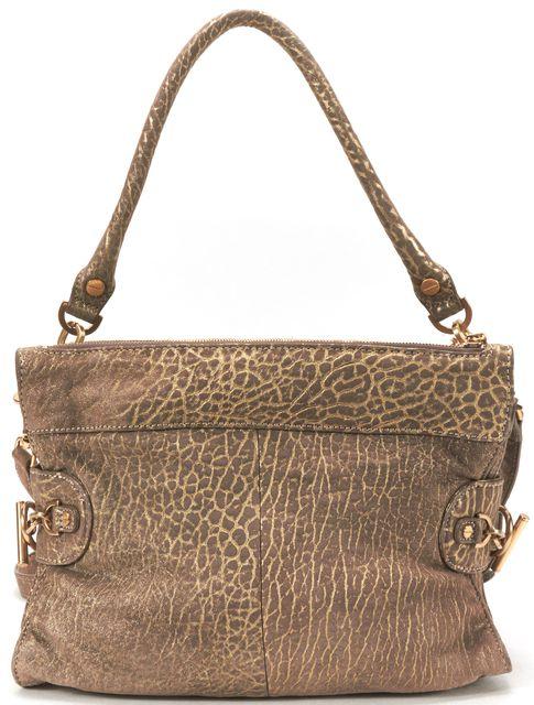 RACHEL ZOE Gold Brown Metallic Leather Crossbody Shoulder Bag