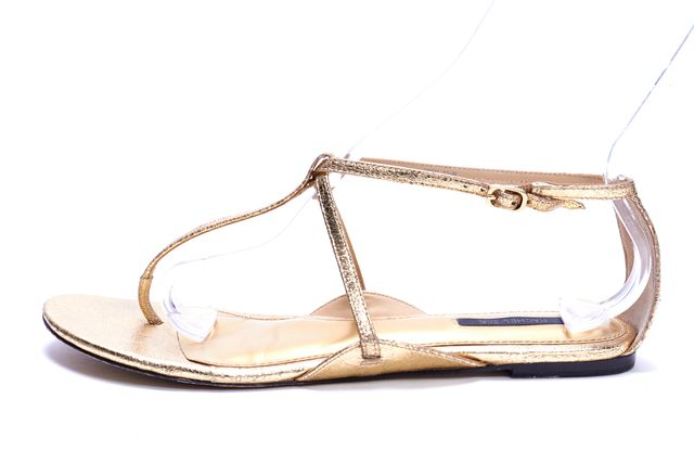RACHEL ZOE Gold Metallic Leather Sandal
